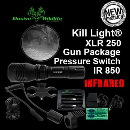 Kill Light® XLR 250 Gun Package, SINGLE MODE, Pressure Switch - IR/Infrared