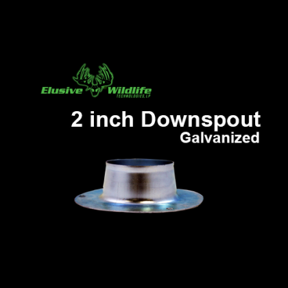 Galvanized Downspout, 2 inch