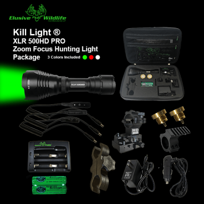 Kill Light® XLR 500HD PRO Zoom Focus Hunting Light Package