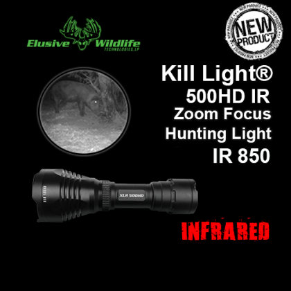 Kill Light® XLR 500HD Zoom Focus Hunting Light - IR 850/Infrared