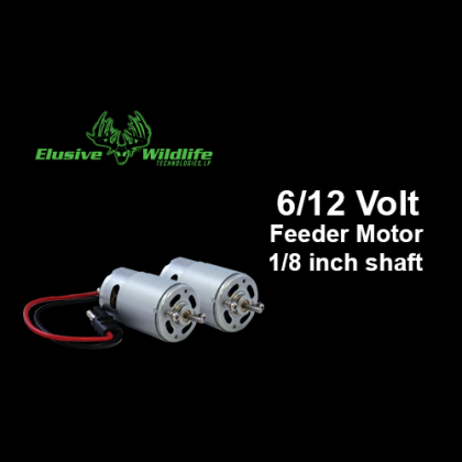 6/12 Volt Feeder Motor, 1/8 inch drive with or without Plug