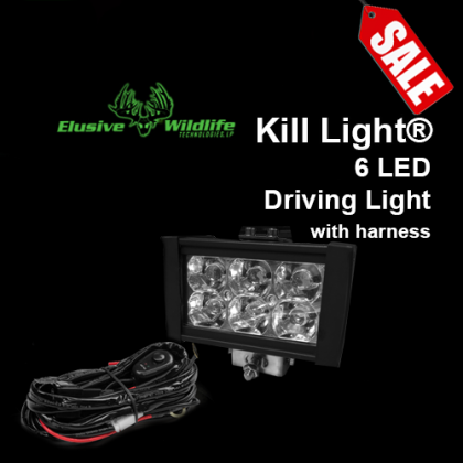 Kill Light® Driving Lights, 6 LED - 18 Watt