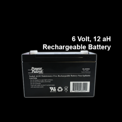 6 Volt, 12ah Rechargeable Battery