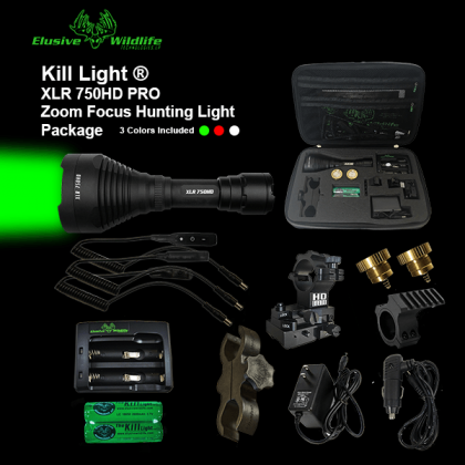 Kill Light® XLR 750HD PRO Zoom Focus Hunting Light Package