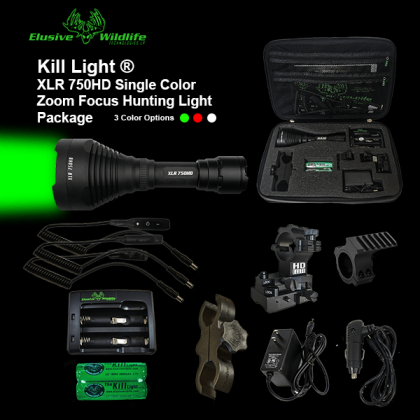Kill Light® XLR 750HD Zoom Focus Hunting Light Package