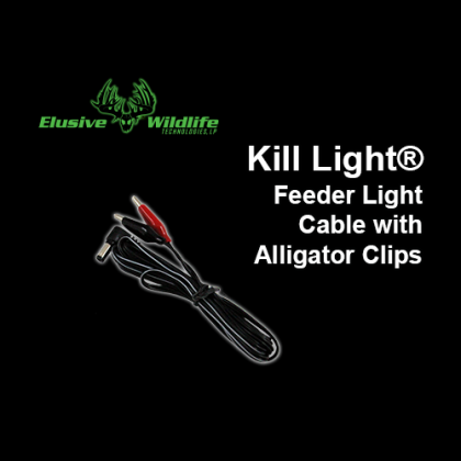 Kill Light® Feeder Light Cable with Alligator Clips