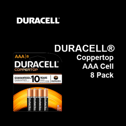 DURACELL® Coppertop Battery AAA Cell,  8 Pack