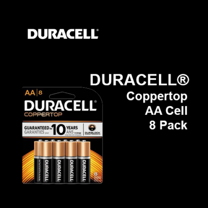 DURACELL® Coppertop Battery AA Cell,  8 Pack