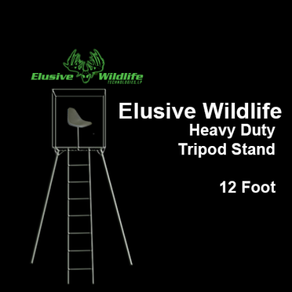 Elusive Wildlife Heavy Duty Tripod Stand, 12 Foot