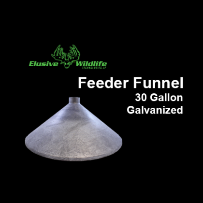 Feeder Funnel - 30 Gallon, Galvanized