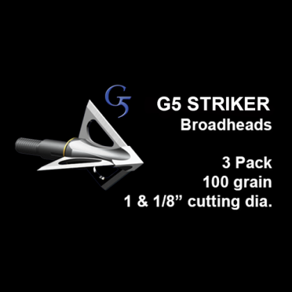 "G5® Striker™ Fixed Blade Broadhead, 3 Pack, 1 & 1/8"", 100 grain"
