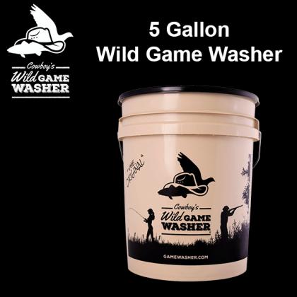 Cowboy's Game Washer™ - 5 Gallon, Tan.