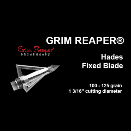 Grim Reaper® Hades Fixed Blade Broadhead, 3 Pack