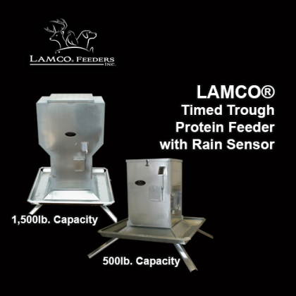 LAMCO® Timed Trough Protein Feeders with Rain Sensor Shutdown