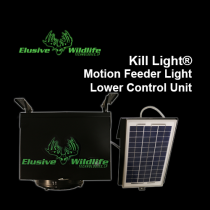 Kill Light® Motion Feeder Light Lower Control Box with Cable Solar Panel