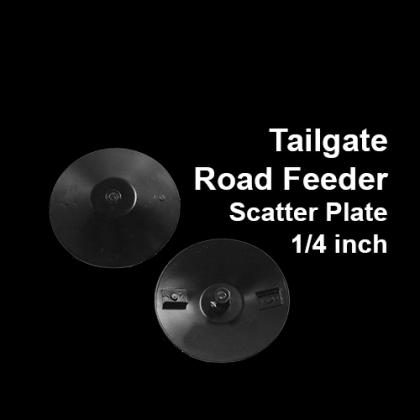 Road Feeder Scatter Plate, 1/4 hub