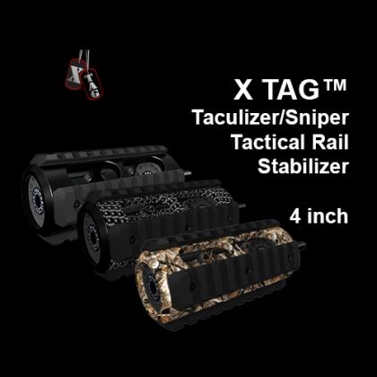 X-TAG™ Taculizer/Sniper Tactical Rail Stabilizer, 4 inch