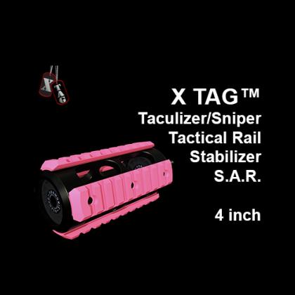 X-TAG™ Taculizer/Sniper Tactical Rail Stabilizer S.A.R., 4 inch - Pink