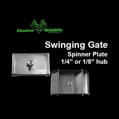 Swinging Gate Stainless Steel Spinner Plate, 1/4 or 1/8 inch hub