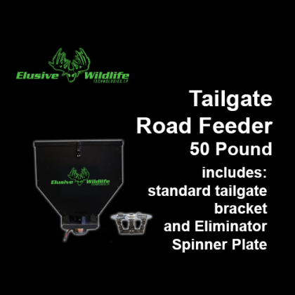 Tailgate Road Feeder with Eliminator Spinner Plate, 50 Pound Capacity